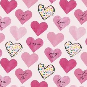 sassy confetti hearts- small