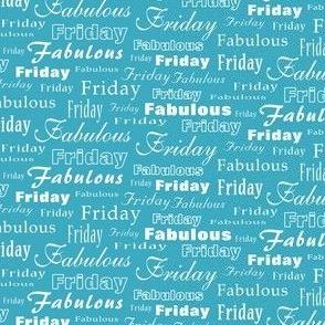 Fabulous Friday Typography, Blue