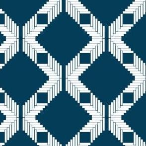 Herringbone Diamond Lattice, Blue