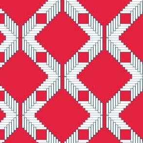 Herringbone in Red, White, and Blue