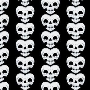 Skull Heart Vertical Stripes