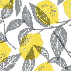 Lemons in yellow and grey
