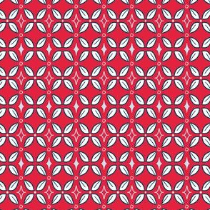 Small Scale Geometric in Red, White, Blue