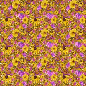 sm-Pat's wildflowers on orange weave
