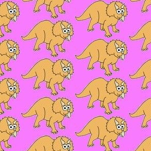 Cute Triceratops - on pink