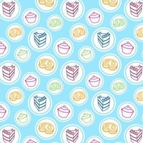 Light Blue Tea Party Texture