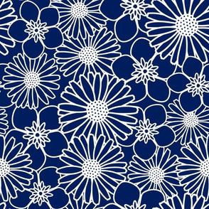 Blue Flower Texture
