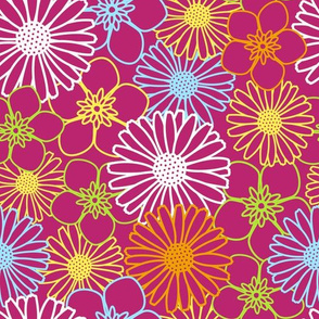 Colourful Floral Texture