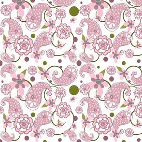 Paisley Floral - Pink | Mauve | Green