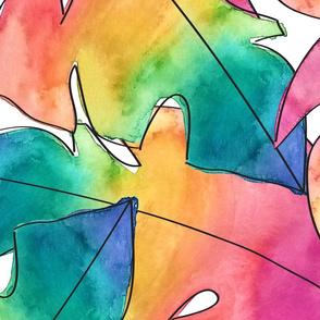 rainbow monstera- jumbo