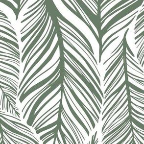 Large Interlocking Leaves Green