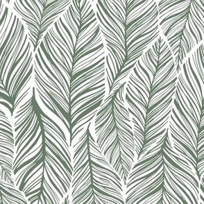 Medium Interlocking Leaves Green