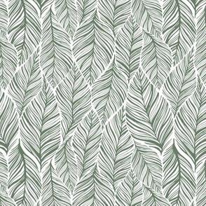 Small Interlocking Leaves Green