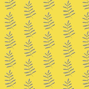 Ferns in pantone 2021 yellow and gray