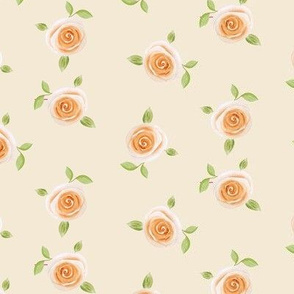 single rose in beige