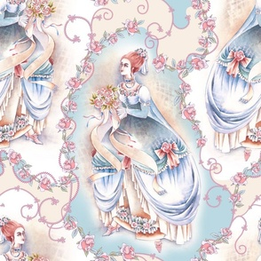 rococo porcelain painting
