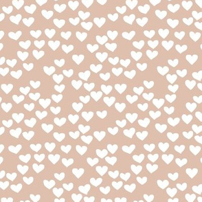 The minimalist boho heart sweet lovers valentine design nursery baby beige white SMALL