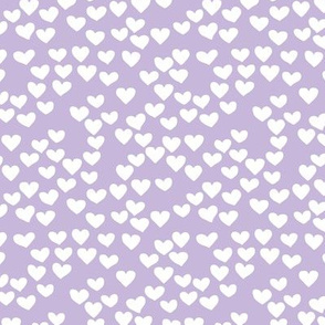 The minimalist boho heart sweet lovers valentine design nursery baby lilac purple  white SMALL