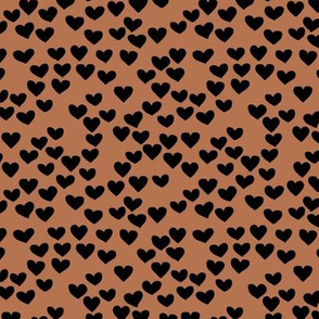 The minimalist boho heart sweet lovers valentine design nursery baby rust copper brown black SMALL
