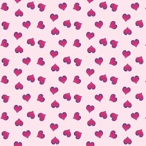pink heart toss