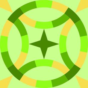 Starry Wedding Ring - Greens Illuminating yellow