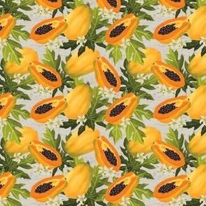 Papaya On Stucco