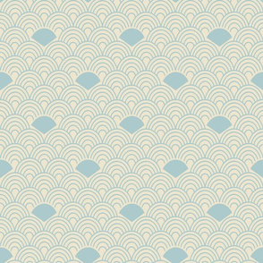 Soft Blue Subtle Ornamental Abstract