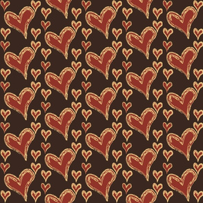 hearts-on-brown