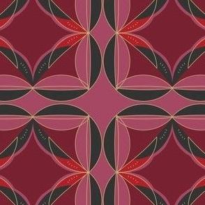 Geometric Modern Remix Red and Black