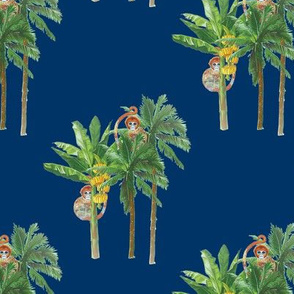 Banana Tree Monkeys Navy