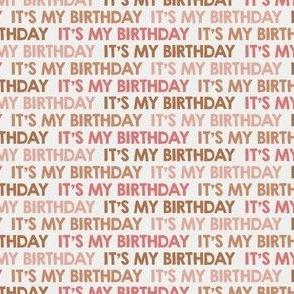 It's My Birthday! mini