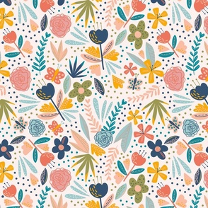 Pretty Spring Blooms - Larger Scale