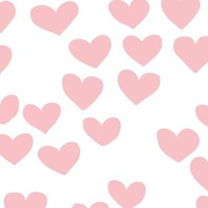 The minimalist boho heart sweet lovers valentine design nursery baby soft pink white