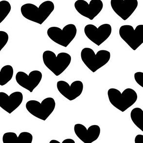 The minimalist boho heart sweet lovers valentine design nursery baby monochrome black and white