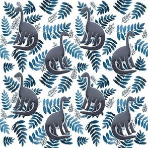 Modern Dinosaur Pattern - Blue