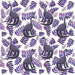 Modern Dinosaur Pattern - Neon Pink & Purple