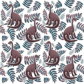 Modern Dinosaur Pattern - Neutral