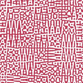 zigzag checquer in red and white - Turing pattern 1