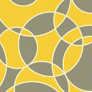 creative dream - inspiring circles - illuminating yellow and ultimate gray