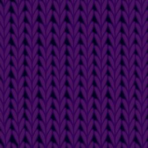 Knitted Stitches in Dark Purple