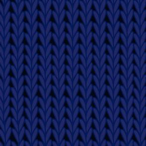 Knitted Stitches in Dark Blue