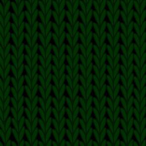 Knitted Stitches in Dark Green