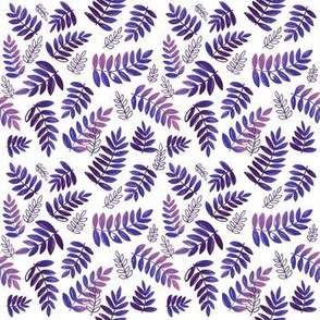 Modern Leaves - Neon Purple