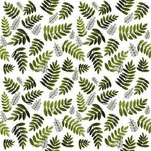 Modern Leaves - Olive Green