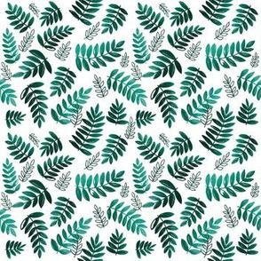 Modern Leaves - Teal
