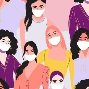 Social distancing - woman 2021