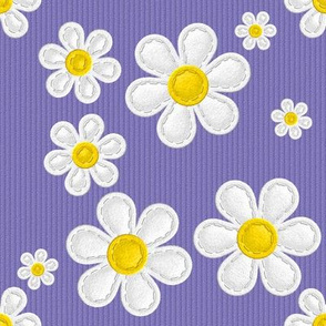 Applique Daisies Purple v2.1