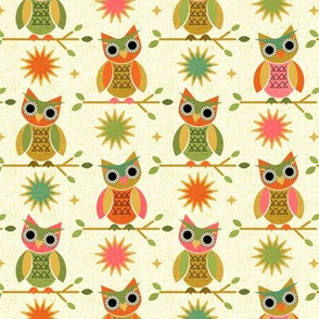 Geometric Owls and Sunbursts -Small scale