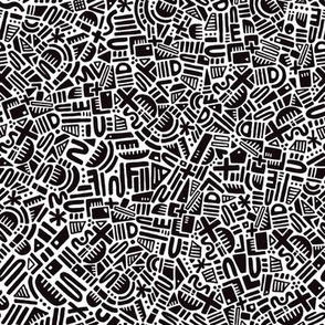 Geometry doodles (monochrome) (small scale)