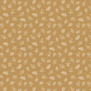 Petals and flowers boho summer garden poppy love neutral nursery golden yellow ochre mustard  mini